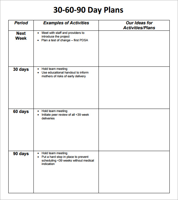 Plan Paper Printable Templates Plan-Template-Pdf