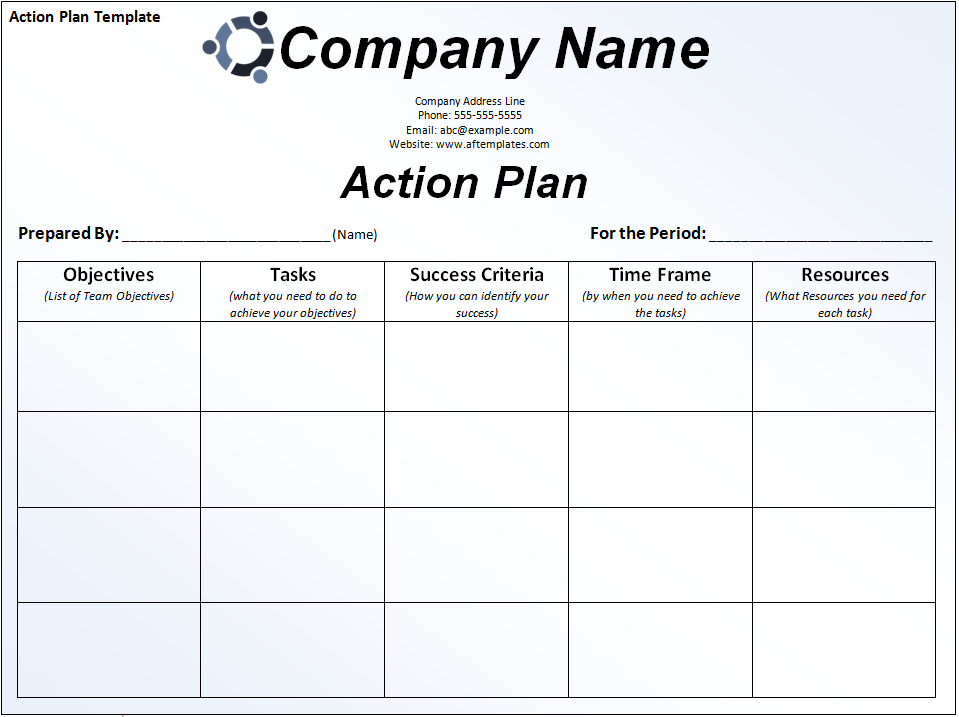Action Plan Plan Paper Printable Templates In Action Plans Templates