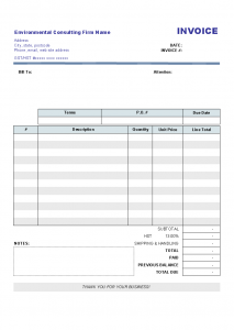 blank print paper invoice templates consulting template printed