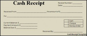 Cash Receipt Template Blank Cash Receipt Templates Paper Printable  Cash Receipt Template Doc