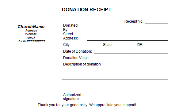Awesome Donation Receipt Template Word With Donation Slip Sample