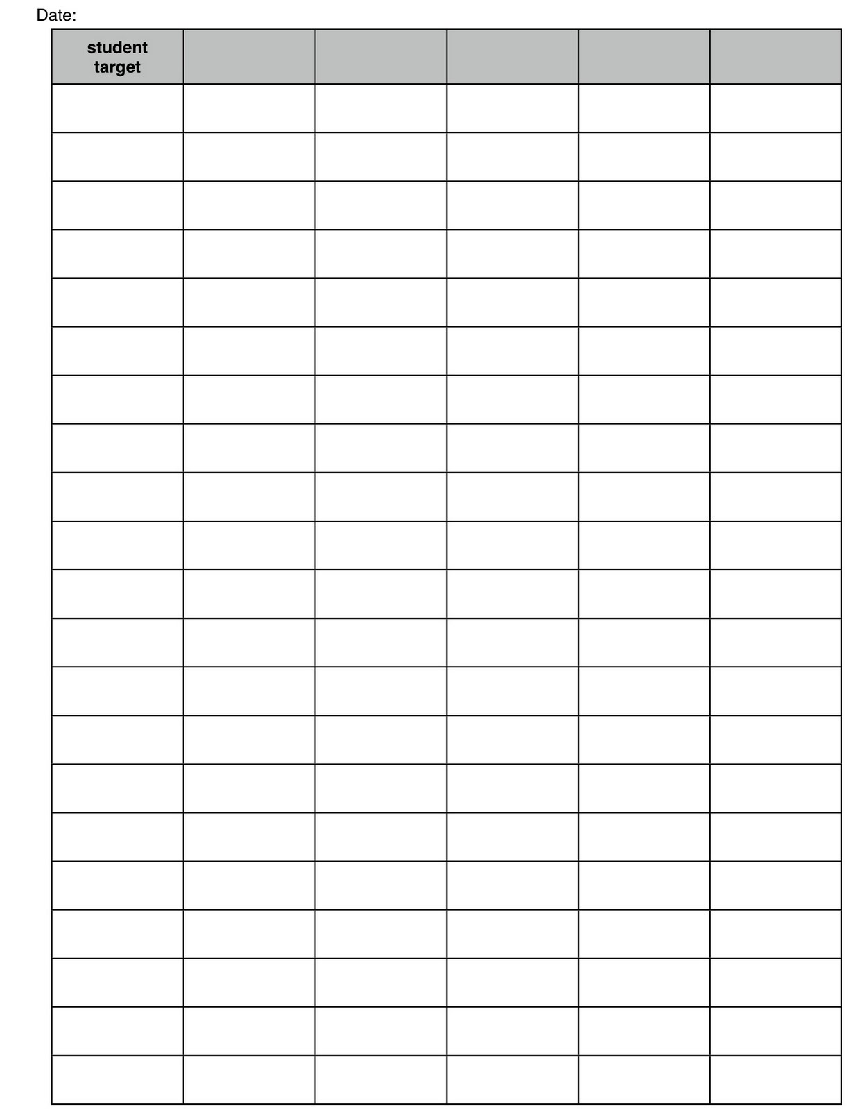 Class List Target Template and PDF Samples