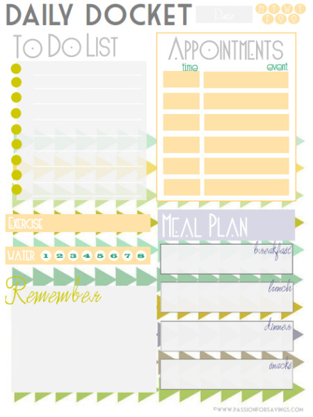 PDF Daily Planner Templates