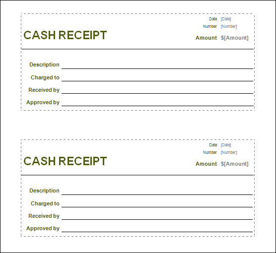 Receipt Templates Blank Cash Receipt  Cash Receipt Forms