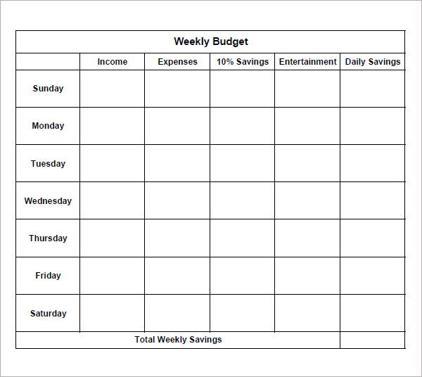 Simple Budget Spreadsheet Template Simple Household Budget Free