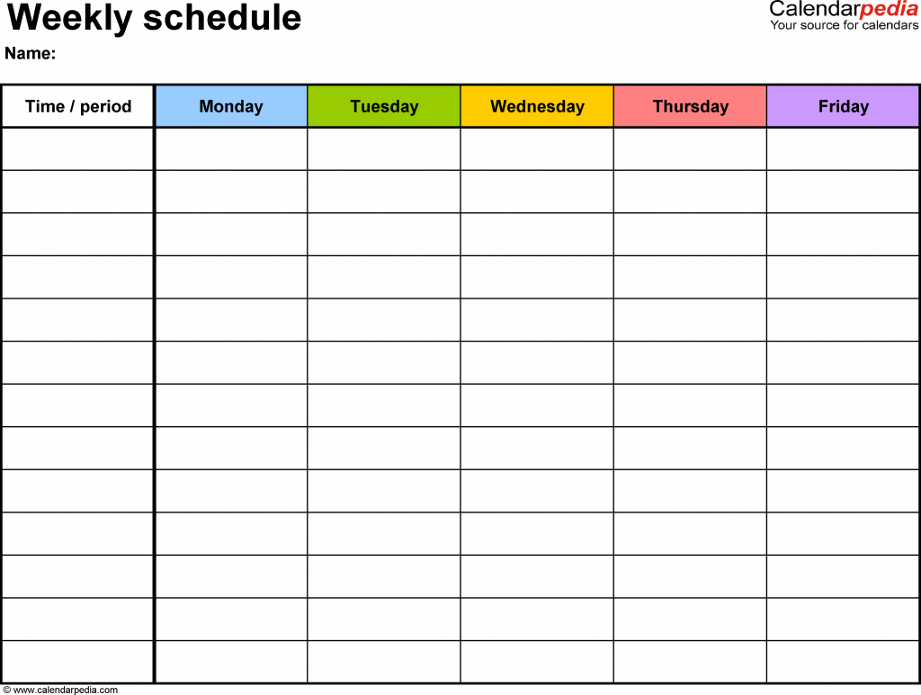 as class schedule templates daily schedule templates employee schedule ...