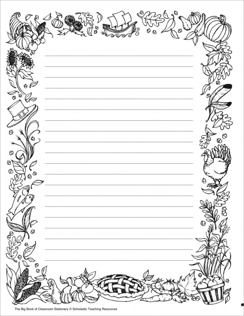coloring designs- bordr stationery paper templates