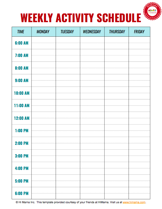 daycare-weekly-schedule-printable samples