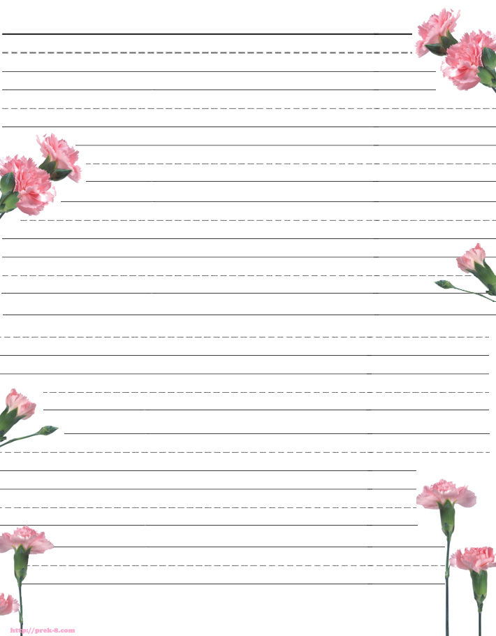 fowers-print-stationery paper templates