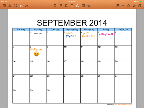 free sept schedule-template printable paper template