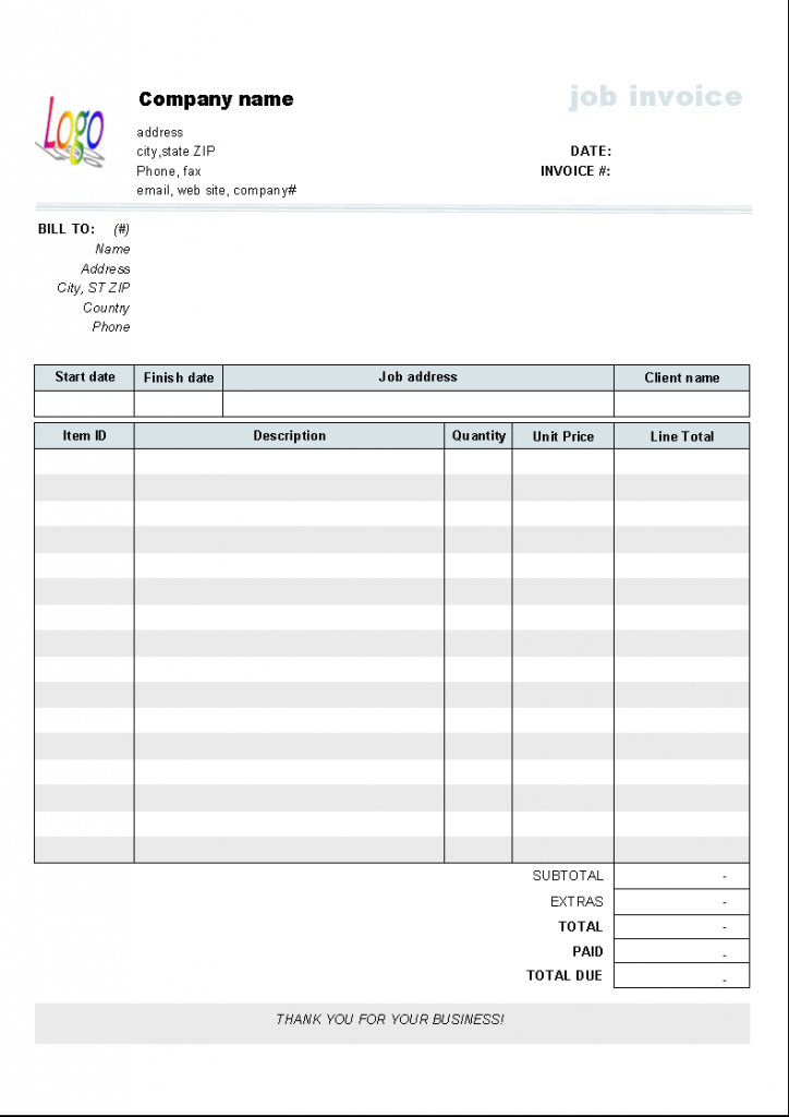 Service Receipt Templates – Services Receipt Template