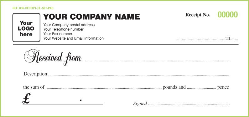 Marketing Cash Receipt Templates Paper Printable