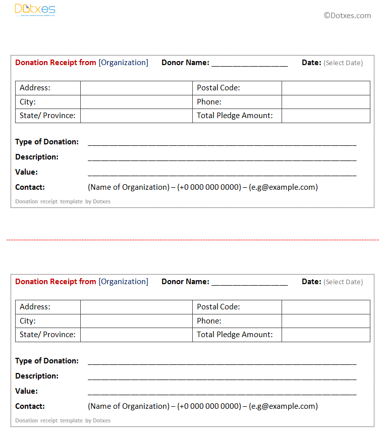 professionalformatofdonationreceipttemplate