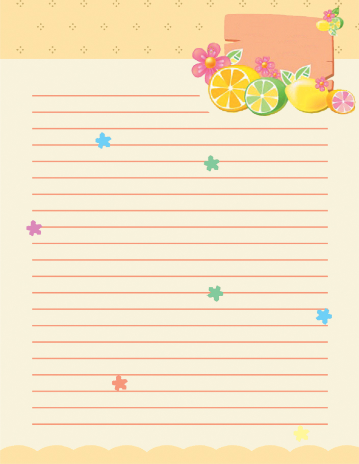 Wiriting Lined Stationery Paper Templates  Lined Stationary Paper