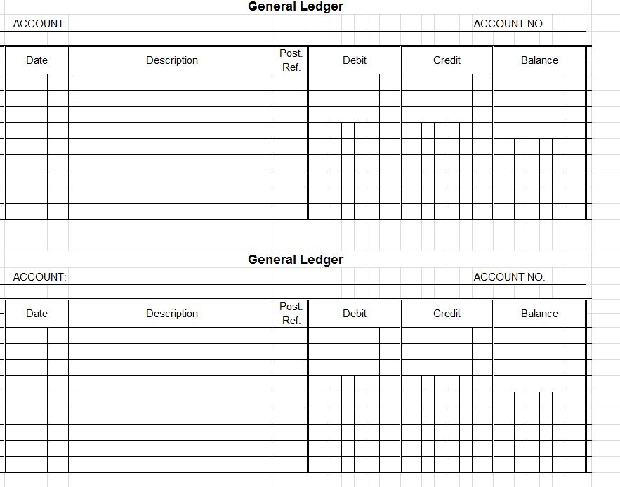 Accounts Ledger Templates  Print Paper Templates