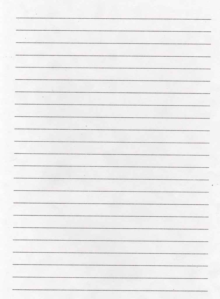 Ruled Paper Printable