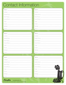 Business contact list template friedricerecipe Image collections