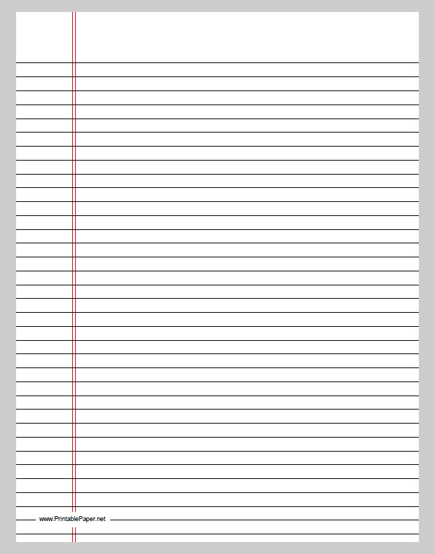 templateprintable notebook paper – Notebook Paper Download