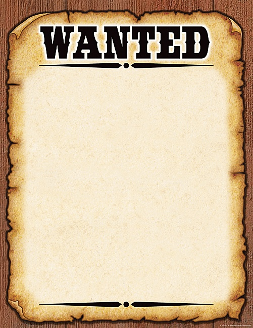 Wanted Poster Template (fbi And Old West, Free). Wanted Poster ...