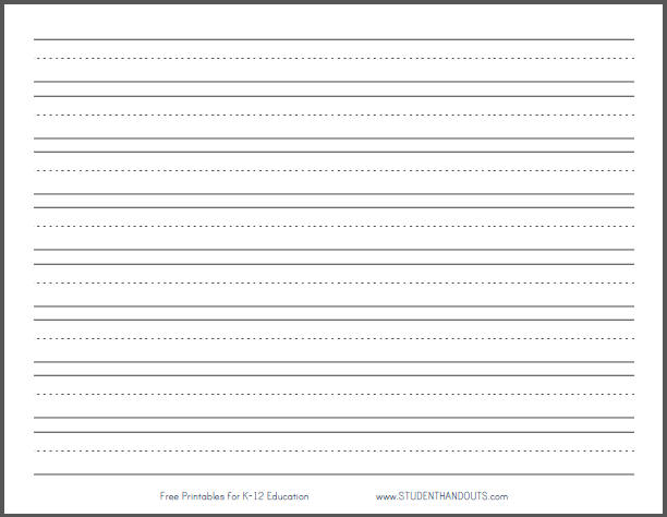 template-paper-primary-dashed-writing-paper-one-inch-lines