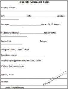 ... Property Appraisal Form Pdf 228x300 ...