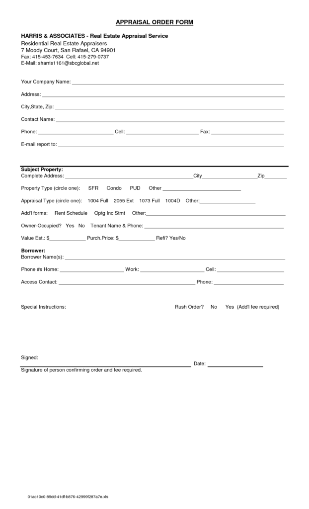real-estate-appraisal-order-form-template-pdf