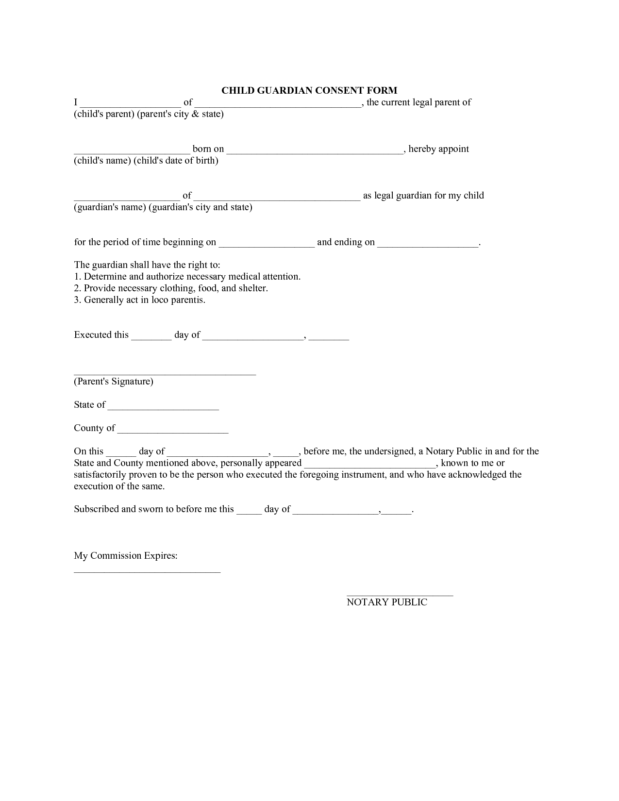 Legal Form Template