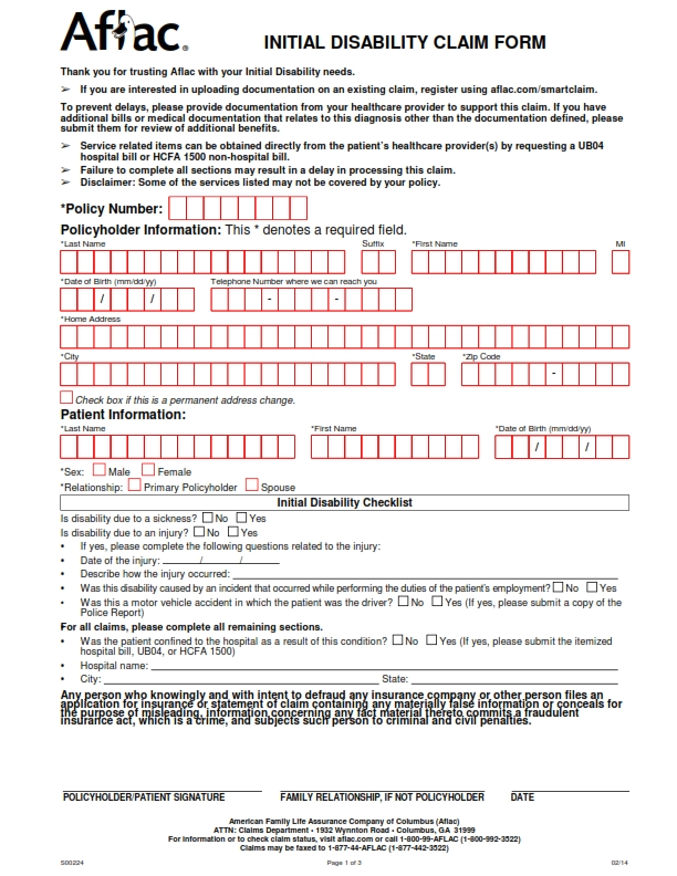 Disability Form Carrell Patient Instructions Full Sheet Patient
