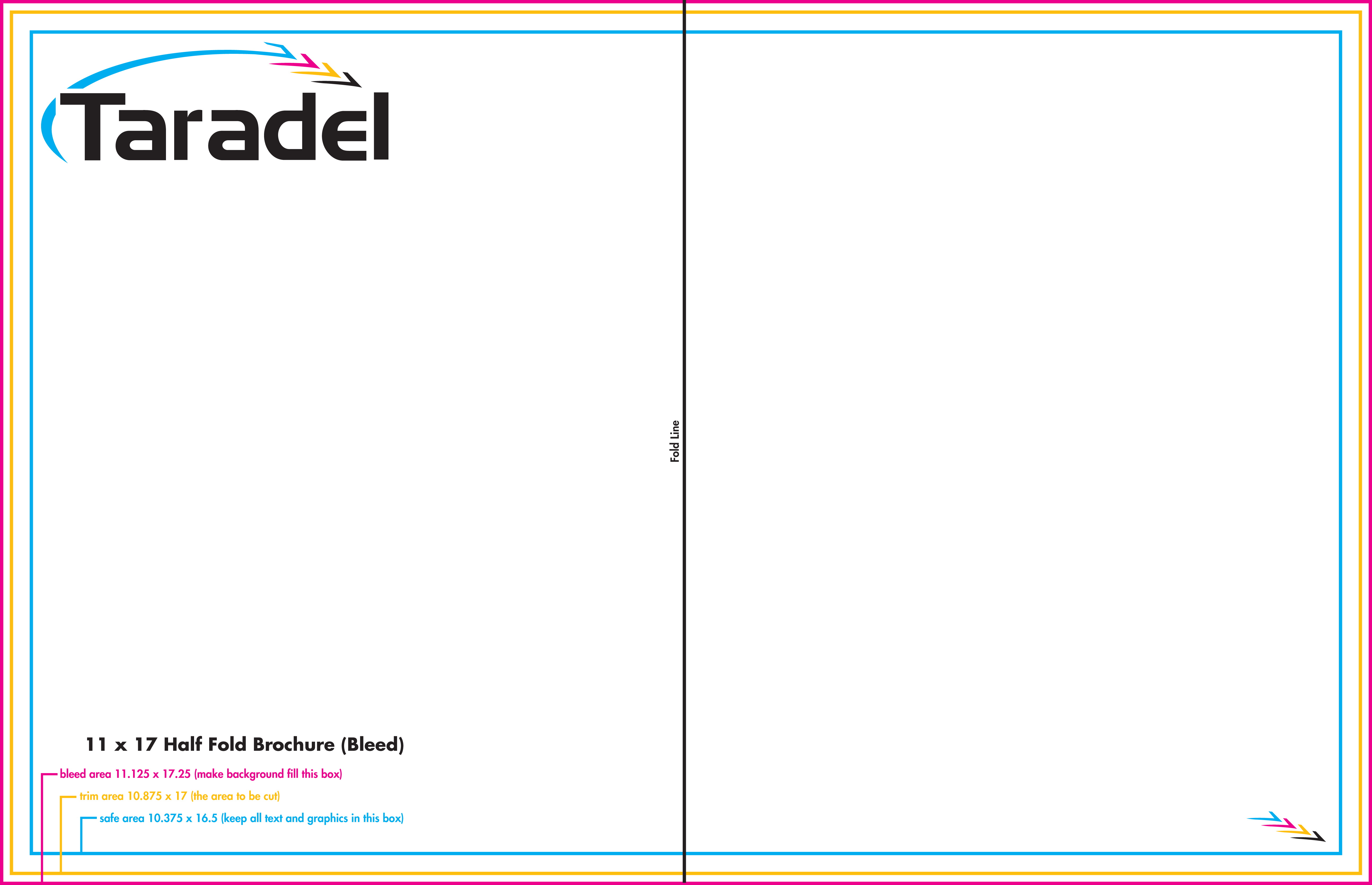 11 17 wrap half fold paper template for Two fold brochure templates free download