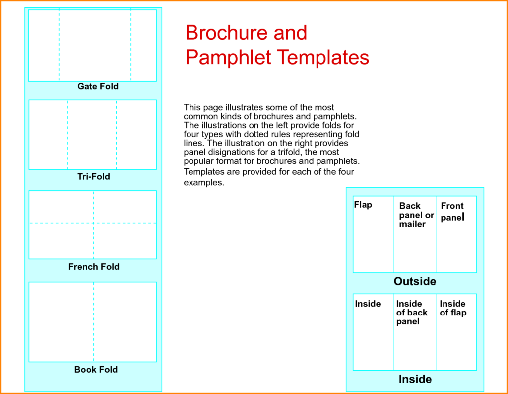 Academic Studies Pamphlets Print Paper Templates