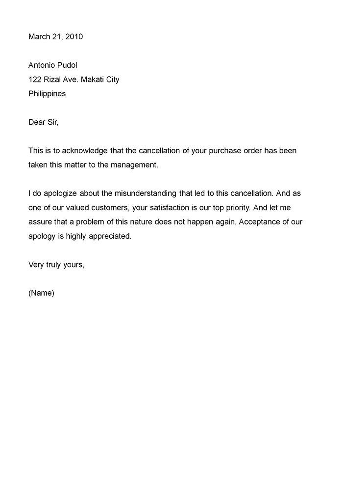 Business Apology Letter Template Apology Letter Pdf Template