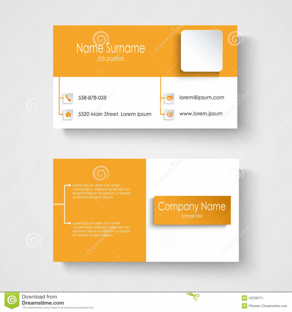 For business cards templates print paper templates modern sample orange business card template vector files alramifo Gallery