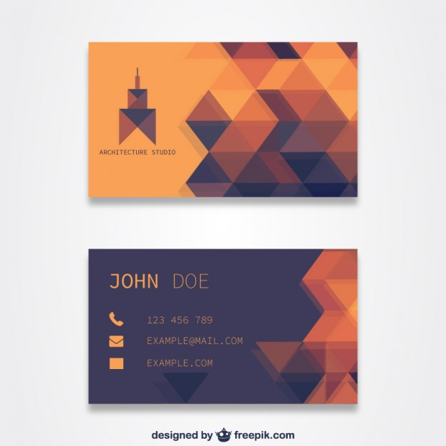 Orange business card template designs free reheart Images