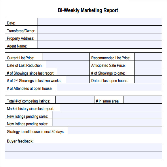 wordBiWeeklyMarketingReport – How to Write a Weekly Report Template