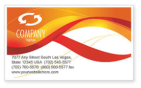 waves-orange-business-card-pro-word-template