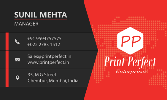 Exclusive Print Design Visiting Cards Transparent