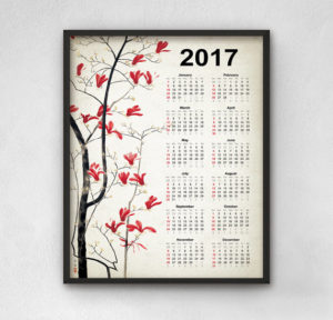 Trees Calendar 2017 Tree Wall Art