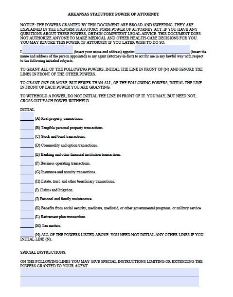arkansas-statutory-financial-power-of-attorney-form