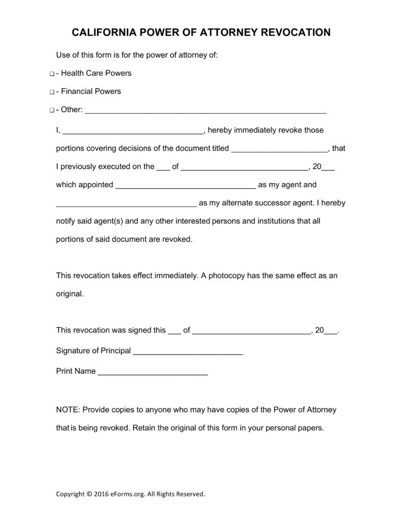 20 poa california form templates print paper templates sample poa falaconquin