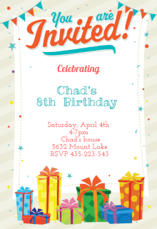 20 birthday party invitation templates print paper templates download microsoft word paper you are invited card stopboris Images