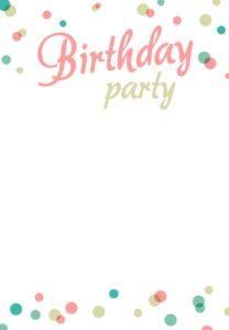 Download Microsoft Word Paper Birthday Invitation Card Kids Free Printable Template