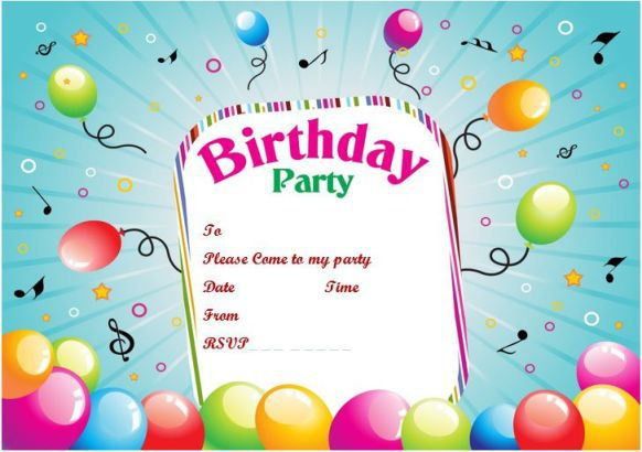 20 Birthday Party Invitation Templates Print Paper Templates