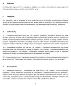 Independent Contractor Agreement Template – English