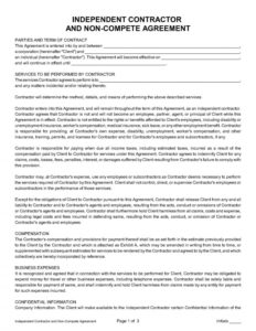 tractor-Independent Contractor Agreement Template – English
