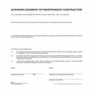 word-doc-Independent Contractor Agreement Template – English