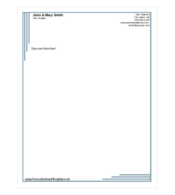 Sample doc business letterhead template free download friedricerecipe Choice Image