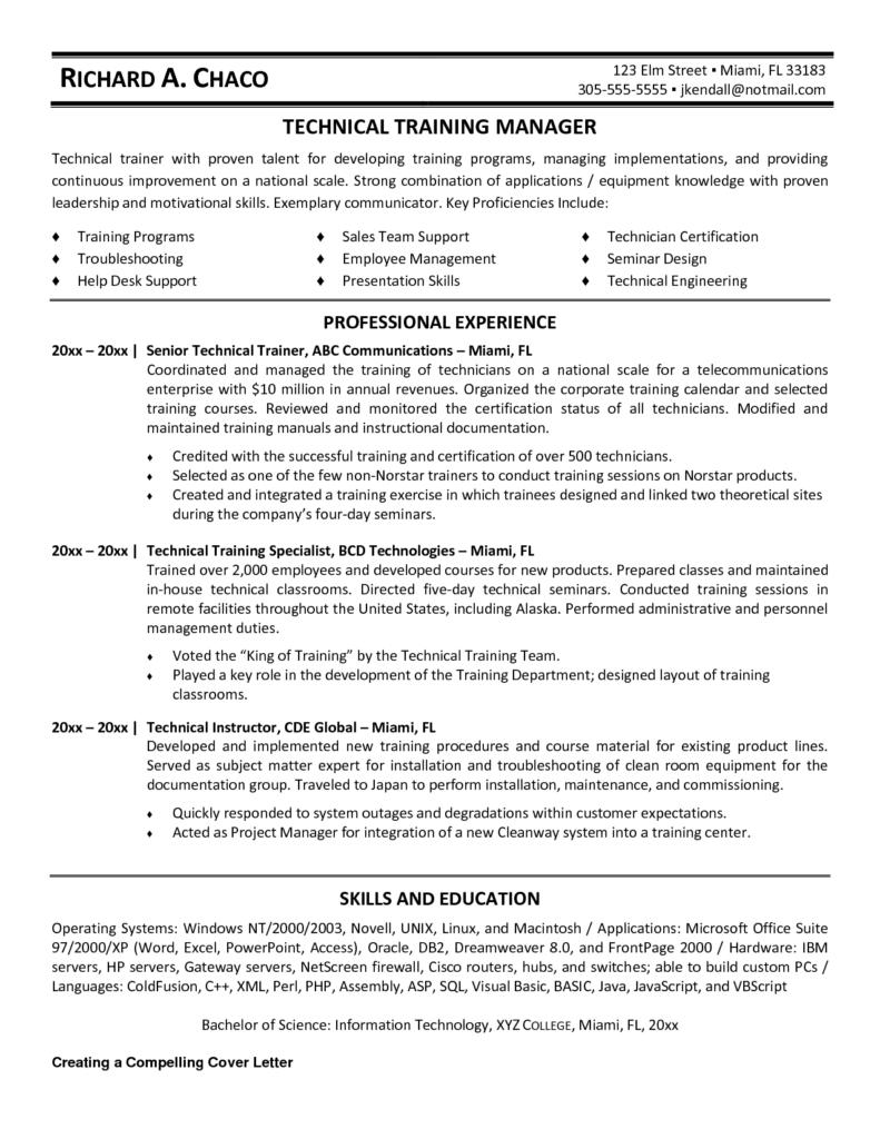Trainer Resume Templates Print Paper Templates